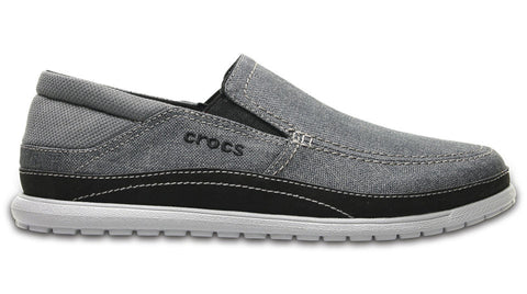 Crocs Santa Cruz Playa Slip-On Graphite Light Grey-Shoes