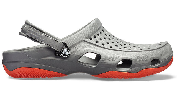 Crocs Swiftwater Deck Clog Slate Grey Tangerine