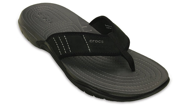 1a51aa8b6f20 Crocs Swiftwater Flip Graphite Black – Sole Central