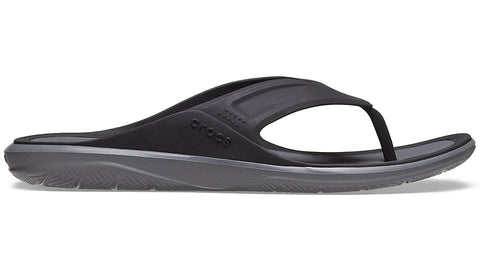 Crocs Swiftwater Wave Flip Black Slate Grey-Shoes