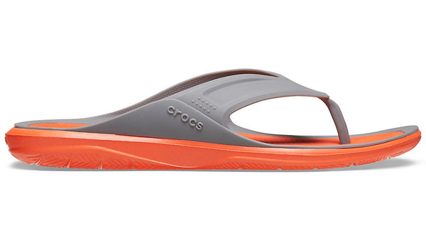 Crocs Swiftwater Wave Flip Slate Grey Tangerine