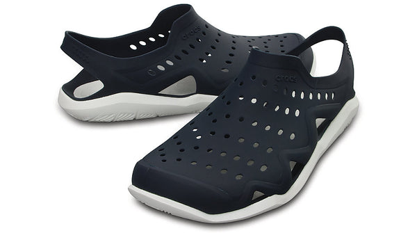 2cb5a8bc9308 Crocs Swiftwater Wave Navy White – Sole Central