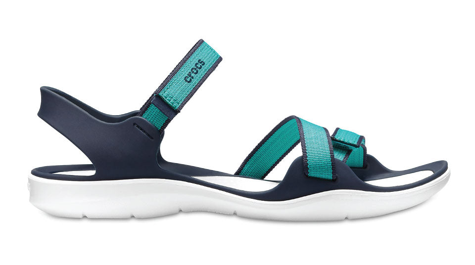 Details about NEW GENUINE: Crocs Swiftwater Webbing Sandal Tropical Teal