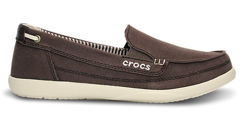 Crocs Walu Canvas Loafer Espresso Stucco
