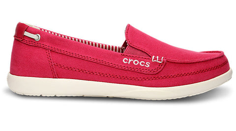 Crocs Walu Canvas Loafer Rasberry Oyster