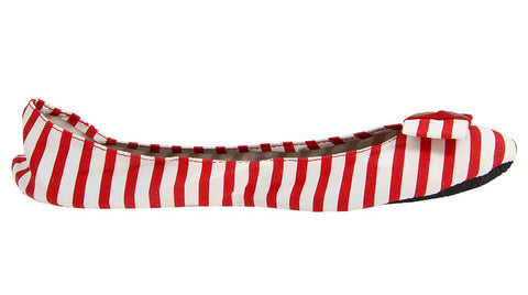 Footzyrolls Candy Striper Red