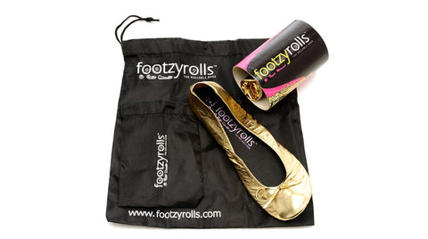 Footzyrolls Everyday Glittery Gold