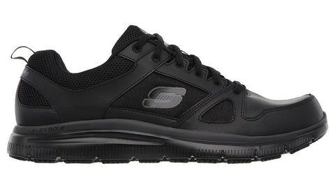 Skechers Men's Flex Advantage Slip Resistant Work Black