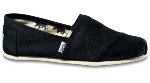 TOMS Classic Black Canvas - Men's