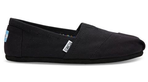 TOMS Classic Black on Black Canvas - Women's