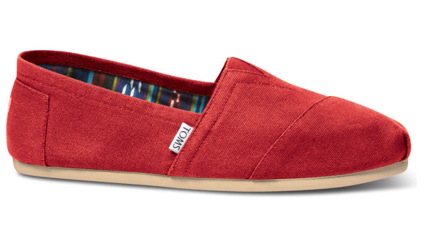 TOMS Classic Red Canvas - Women's