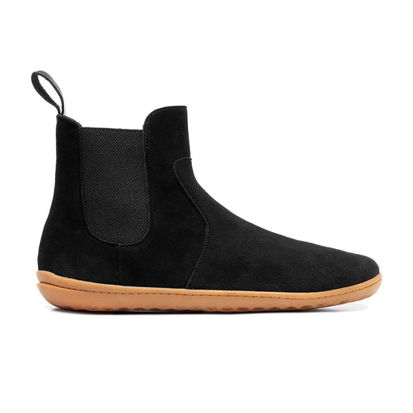 Vivobarefoot Women's Fulham Black Suede Leather