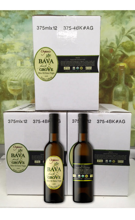 375 ml. Bottles - Case of 12 <br>  Extra Virgin Olive Oil