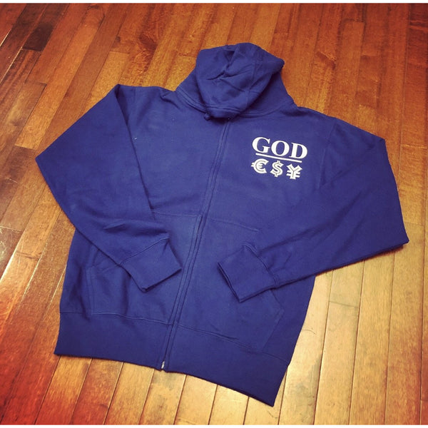 God Over Money Zip-Up Hoodie