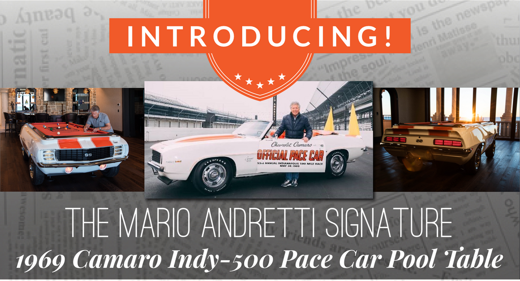 Introducing the Mario Andretti Signature Pace Car Pool Table!