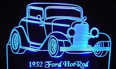 1932 Ford Hot Rod Desk Sign Plaque Carfurniture Com