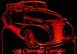 1938 Chevrolet Cabriolet (Desk Sign/Plaque)