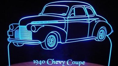 1940 Chevrolet Business Coupe (Desk Sign/Plaque)