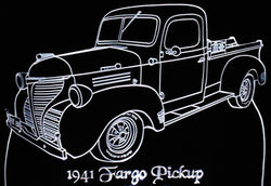 1941 Dodge Fargo Pickup (Desk Sign/Plaque)