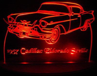 1957 Cadillac Eldorado Seville (Desk Sign/Plaque)
