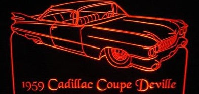 1959 Cadillac Coupe DeVille (Desk Sign/Plaque)