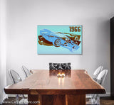 1966 GT Blue Canvas Art