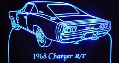 1968 Dodge Charger R/T (Desk Sign/Plaque)
