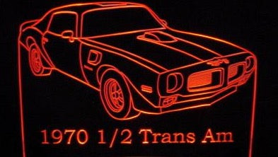 1970 1/2 Pontiac Firebird Trans Am (Desk Sign/Plaque)