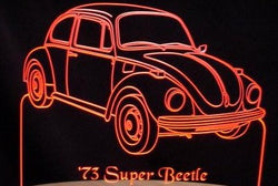 1973 VW Volkswagen Super Beetle (Desk Sign/Plaque)