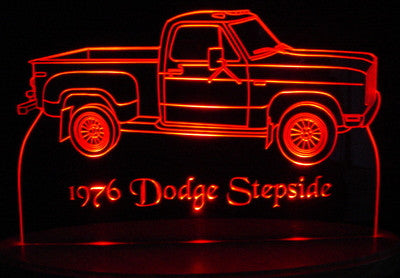 1976 Dodge Pickup Stepside (Desk Sign/Plaque)