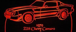 1979 Chevy Camaro Z28 (Desk Sign/Plaque)
