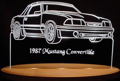 1987 Mustang Convertible  (Desk Sign/Plaque)