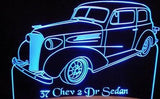 1937 Chevrolet Deluxe 2 Door Sedan (Desk Sign/Plaque)