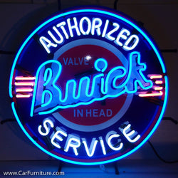 GM Buick Service Neon Sign with Backing
