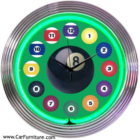 Green-Billiard-Ball-Neon-LED-Wall-Clock-Pool-www.CarFurniture.com