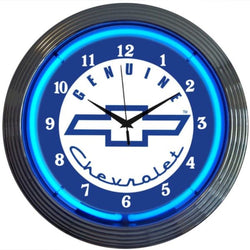 Genuine Chevrolet Blue Neon Clock