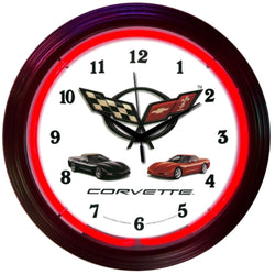 GM Corvette C5 Neon Clock