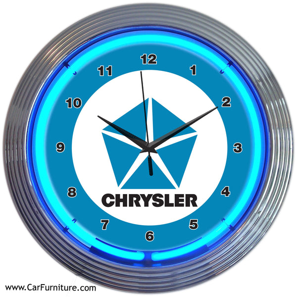 Blue-Chrysler-Pentastar-Neon-Wall-Clock-www.CarFurniture.com