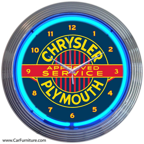 Chrysler Plymouth Neon Clock