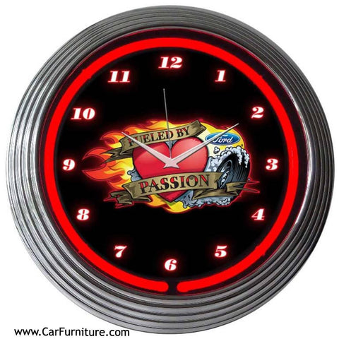 Ford-Fueled-By-Passion-Red-Neon-Clock-www.CarFurniture.com