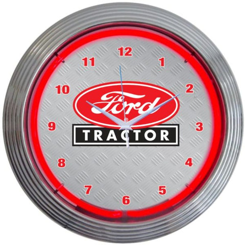 Ford-Tractors-Red-Neon-Wall-Clock-www.CarFurniture.com