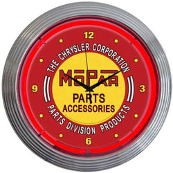 Mopar Parts Accessories Vintage Neon Clock