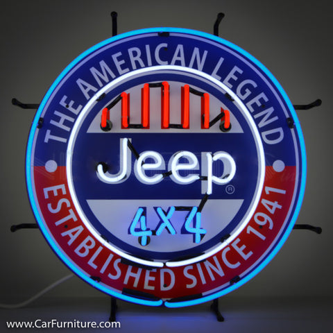 American Legend Jeep Neon Sign with Backing