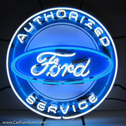 Authorized Ford Service Neon Sign with Backing