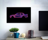 BMW E30 M3 Pink Canvas Art