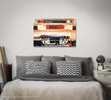 Burnt Orange Diablo Bull Neon Canvas Print
