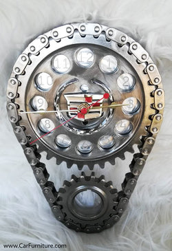 Cadillac Engine Timing Gear Wall Clock