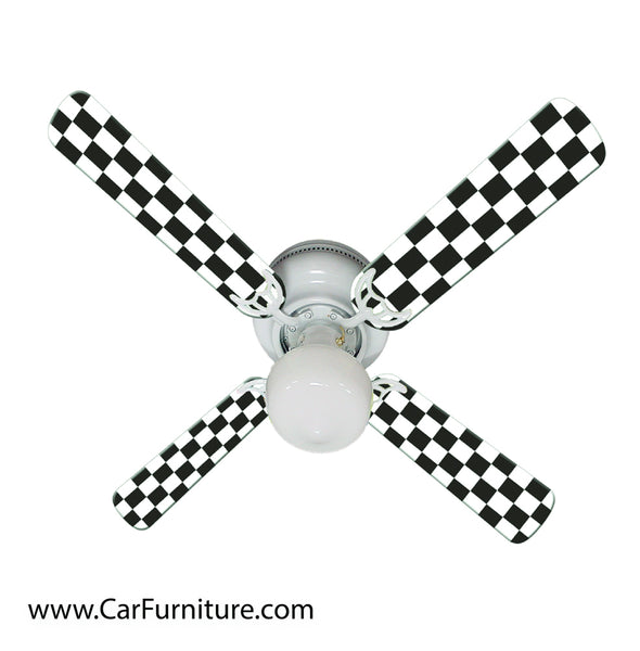 Checkered Racing Flag Fan - 42""