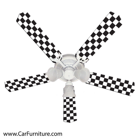 Checkered Racing Flag Fan - 52""