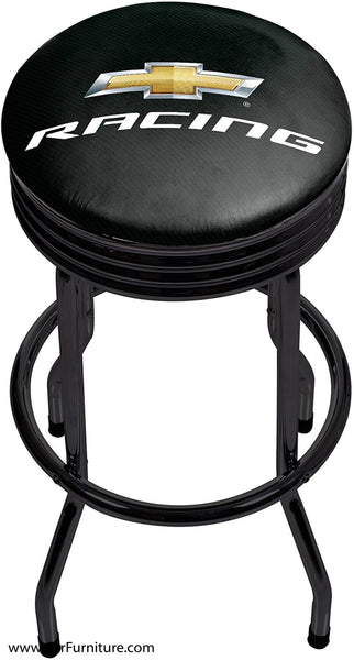 Chevrolet Racing Black Bar Stool